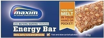 Maxim Energy Bar - new - 'non-sticky'