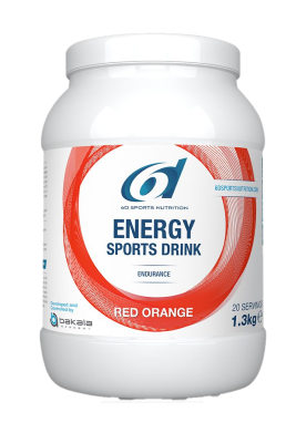 6d energy sports drink red orange